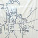 Street Map Emboridery
