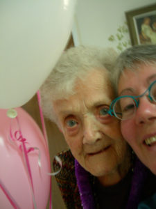 Mum and me on her 90th birthday